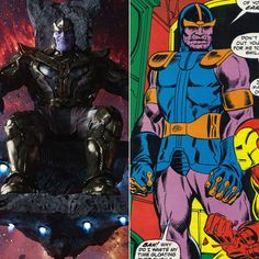 Thanos (The Mad Titan) - The Avengers' First Comic Book Appearances - Photos