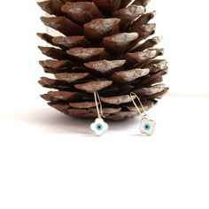 Greek Evil Eye, Evil Eye Earrings, Gold Cross, Black Ribbon, Mother Pearl, Jewelry Shop, My Etsy Shop, Gift Wrapping, Shapes
