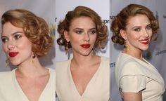 Hollywood Glamour Half Updo