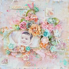 Gorgeous Girl - Scrapbook.com --- Stunning Creation by Stacey Young Wendy Schultz -Baby Layouts.