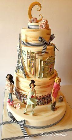 Fashion in Paris - Cake by Torte d'incanto - CakesDecor