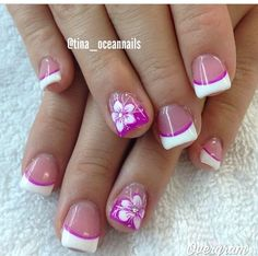 faded french nails L French Nails, French Acrylic Nails, Cute Acrylic Nails, Fingernail Designs, Acrylic Nail Designs, Nail Art Designs, Vacation Nails, French Nail Designs, Metallic Nails