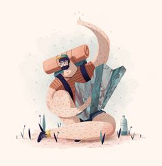 illustration_character_ petite joubarbe on Behance