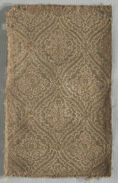 Two Brocaded Fragments, late 1500s  Italy, late 16th century  lampas weave (?), silk and metal thread, Overall - h:22.50 w:13.50 cm (h:8 13/16 w:5 5/16 inches). Dudley P. Allen Fund 1918.910