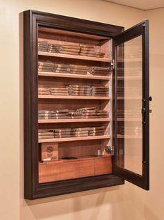 Reliance 350 Wall Humidor (In-Wall) – Vigilant Online Shop Cigar Lounge Man Cave, Cigar Humidor Cabinet, Zigarren Lounges, Whiskey Room, Man Cave Room, Cigars And Whiskey, Cuban Cigars, Gun Rooms, Bar Design