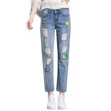 {Like and Share if you want this  Summer Jeans Women Fashion Badge Patchwork Denim Pants Ladies Vintage Harem Pants Plus Size Female Loose Jeans Bleached Trousers|    Unique arriving Summer Jeans Women Fashion Badge Patchwork Denim Pants Ladies Vintage Harem Pants Plus Size Female Loose Jeans Bleached Trousers now at a discounted price $US $20.73 with free shipping  you\\'ll find this unique product not to mention a lot more at our on-line store      Buy it right now on this website…