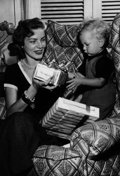 Lauren Bacall and son