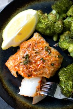 This Parmesan Crusted Cod recipe is one of the easiest fish meals to prepare for a quick, tasty weeknight dinner. You'll have a super healthy meal ready to serve in less than 30 minutes! (gluten free)