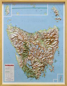 Tasmania Raised Relief Map