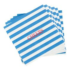 stamp some CHEERS onto your paper party napkins for a quick and festive touch
