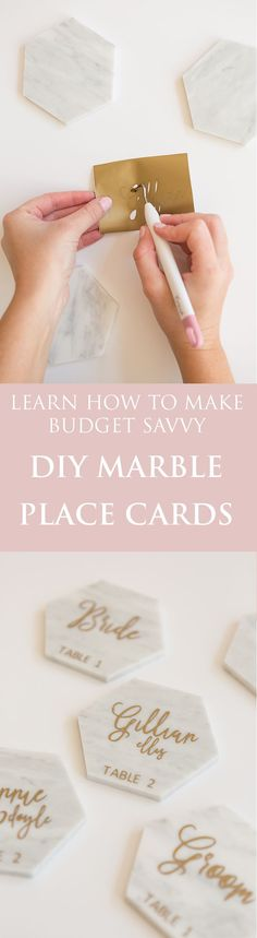 Budget Savvy DIY Marble Place Cards I Gillian Ellis Photography