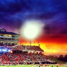Beautiful sunset at the Liberty Flames football game (from Olivia Witherite)
