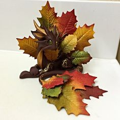 I wanted this one to be in the sale this weekend but she wasn't quite ready yet, but in honor of Fall starting soon here is the 2015 Fall Dragon ^_^ www.etsy.com/listing/248898221… #dragon #...