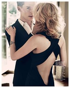 Cocktail Hour | Lydia Hearst, Benedict Cumberbatch by Jonty Davies for Marie Claire UK December 2010