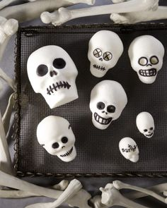 Decorate your home with these easy-to-make, grinning sugar skulls.