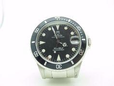 Vintage Tudor Submariner 36mm 75090 Black Stainless Steel Watch - Box Hang Tag  | eBay