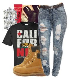 """California Republic"" by jayjay-x0 ❤ liked on Polyvore featuring Juicy Couture and Timberland"