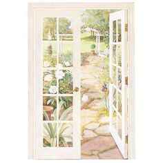 Interior Place - Fence Doors Wall Mural, $63.69 (http://www.interiorplace.com/fence-doors-wall-mural/)