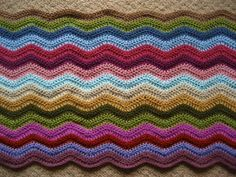 Cottage Ripple blanket :: ta-dah!  <3