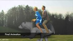 Check out this cool VFX breakdown.In 2014 the talented folks over at Fido were asked to make two Finnish icons ride a bear. Cgi, Bear, Digital, Youtube, Bears