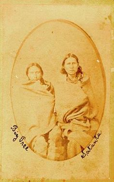 6/27/1874 Second Battle of Adobe Walls  About 700 Plains Indians, mostly Cheyenne, Comanches & Kiowas, attacked a buffalo hunters' camp about a mile from the ruins of Adobe Walls in what is now Hutchinson County in the Panhandle. Kiowa chiefs, Big Tree (left) and Satanta (right). Big Tree was a cousin of Satanta, one of the most feared of all Indian leaders (side note: his life inspired the character of Blue Duck in Larry McMurtry's classic Texas novel Lonesome Dove).