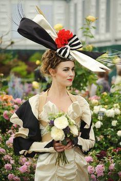 MAY 2011 - In celebration of the tercentenary of Royal Ascot, Vivienne Westwood and milliner Stephen Jones presented a catwalk show during the Chelsea Flower Show.