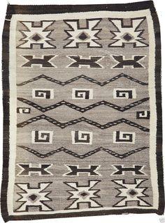 "An Interesting Antique 42"" x 53"" American Indian Navajo Rug   eBay"