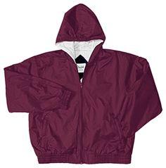Zip Front Bomber (Sizes 8-20) in Burgundy $23.99 #school  #uniforms #girls #medicaloutlet