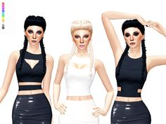Cut-out Top Variations. 3 tops, each with 11 color options. Found in TSR Category 'Sims 4 Female Clothing Sets'
