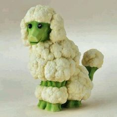 Broccoli and Cauliflower Poodle, who knew? A great centerpiece for a vegetable platter, cute food for dog lovers. Compliments of: Estate ReSale ReDesign, of Bonita Springs, FL