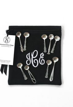 4 Pc Anti Tarnish Flatware Roll Pkg For Silverware   Flatware Storage,  6 Piece Place Setting, Silverware Roll, Monogrammed, Simple Elegance  Collectu2026