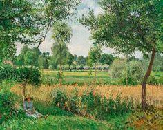 """Camille Pissarro - """"Luz de la mañana en Eragny"""""""
