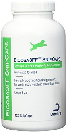 Dechra Eicosa SnipCaps Large Dogs over 30 lbs 120 count -- Check this awesome product by going to the link at the image. (This is an affiliate link) Large Dog Crate, Large Dogs, Small Dogs, Plastic Dog Crates, Electric Dog Collar, Wireless Dog Fence, Best Probiotic, Dog Nutrition