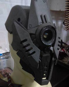 Mask progress. #originaldesign #evafoam #cyberpunk #robot #scifi #freehand #workinprogress