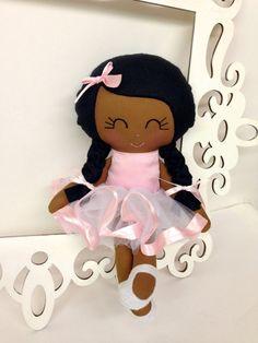 Ballerina Handmade Doll Fabric Dolls Soft Dolls by SewManyPretties, $50.00 #ballerina #ballerinaparty