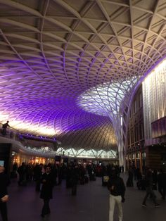 King's Cross Station  Wow, this looks nothing like the station in the H Potter final movie! lol