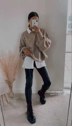 Casual Winter Outfits, Winter Fashion Outfits, Look Fashion, Trendy Outfits, Fall Outfits, Bluse Outfit, Looks Pinterest, Mode Ootd, Elegantes Outfit