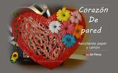 Corazón de pared, reciclando papel y cartón | Manualidades