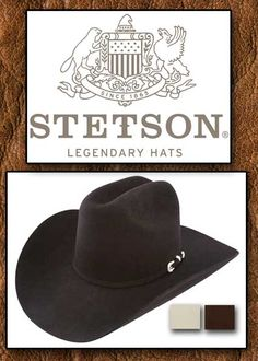 Stetson Hats From Tribal And Western Impressions. Esteban Brito · Sombreros  hombre 81084320b8e