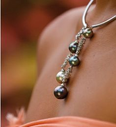 Tahitian Pearl Necklace By Bora Bora Pearl company