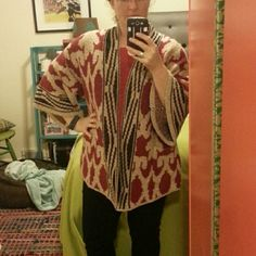 Lucky Brand kimono sweater Rich and vibrant kimono/poncho type sweater from Lucky. Super warm and cozy. Perfect for upcoming holiday parties! Lucky Brand Sweaters