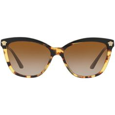 234241286be0d Versace Ve4313 57 Black Butterfly Sunglasses ( 280) ❤ liked on Polyvore  featuring accessories