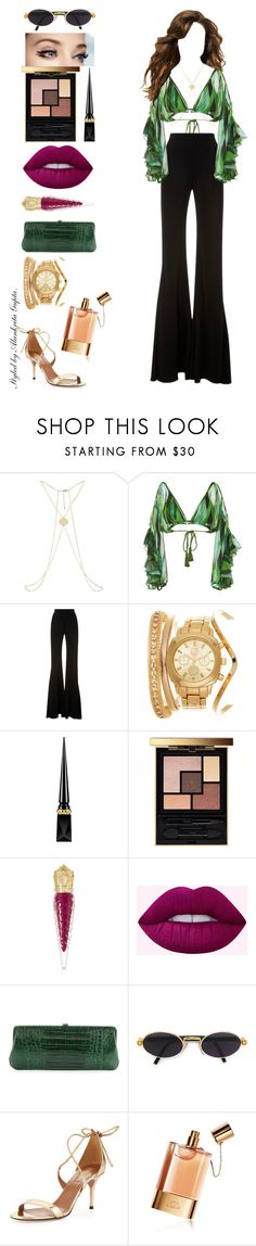 """Bahamas."" by alankrita-gupta on Polyvore featuring Água de Coco, Brandon Maxwell, Christian Louboutin, Yves Saint Laurent, Nancy Gonzalez, Gianfranco Ferré, Aquazzura and Chloé"