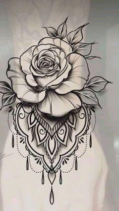 Fantastic (no title - Tattoo Zeichnungen - Rose Tattoo Forearm, Flower Wrist Tattoos, Lace Tattoo, Lace Rose Tattoos, Tattoo Thigh, Tattoo Black, Body Art Tattoos, Hand Tattoos, Sleeve Tattoos