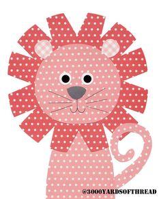 1602 Light and Dark Pink Happy Lion Nursery Artwork Print Baby Room Decoration Kids Decor wall art Gifts Under 50 on Etsy, $14.00