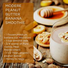 this super easy and super delicious smoothie is packed with protein thanks to our Vanilla meal replacement it is formulated with pea protein, our Vanilla Meal Replacement shake provides important nutrients you'll find in a well-rounded meal. Vanilla Protein Shakes, Protein Shake Recipes, Protein Foods, Organic Peanut Butter, Peanut Butter Banana, Peanutbutter Smoothie Recipes, Healthy Afternoon Snacks, Healthy Shakes, Diet Shakes