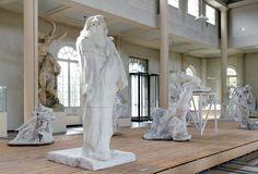 Oeuvres en plâtre exposées au musée Rodin Meudon