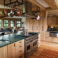 Hickory Galley Kitchen Design