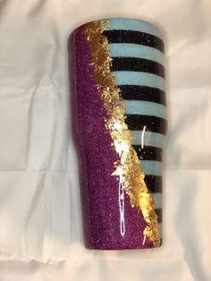 Bling Bottles, Tumblr Cup, Tumbler Designs, Purple Glitter, Mug Cup, Cuff Bracelets, Cricut, Joy, Mugs