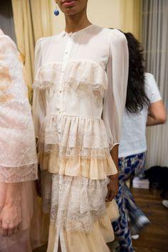 Yuna Yang at New York Fashion Week Spring 2017 - Backstage Runway Photos